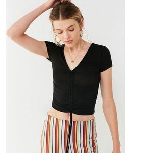 Out From Under Alexa Ruched Short Sleeve Top